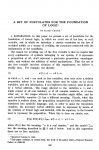 Picture of first page of Church's paper introducing the lambda calculus